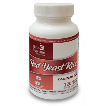 Red Yeast Rice with Coenzyme Q10 - 120 Veg Capsules
